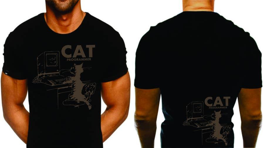 """Proposition n°21 du concours T-shirt design """"Cat-programmer"""""""