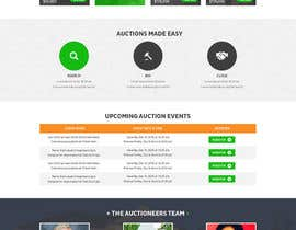 nº 7 pour Design a Website Mockup for Auctioneers par davidnalson