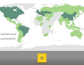 Nro 3 kilpailuun World map for website käyttäjältä marcelomatsumot
