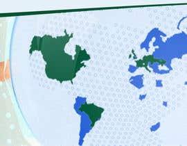 Nro 6 kilpailuun World map for website käyttäjältä Nabin22