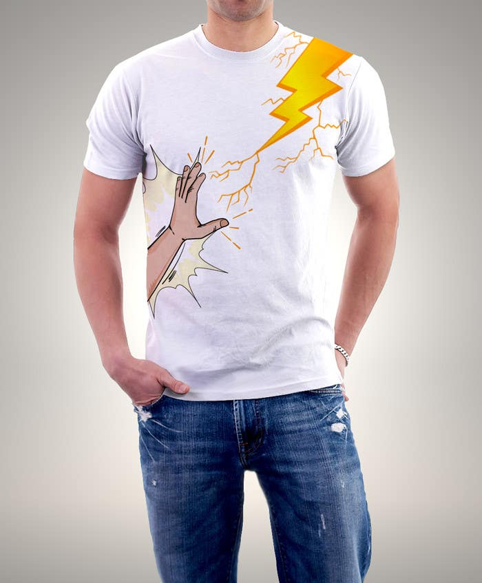Kilpailutyö #                                        22                                      kilpailussa                                         Design a T-Shirt_command lightning