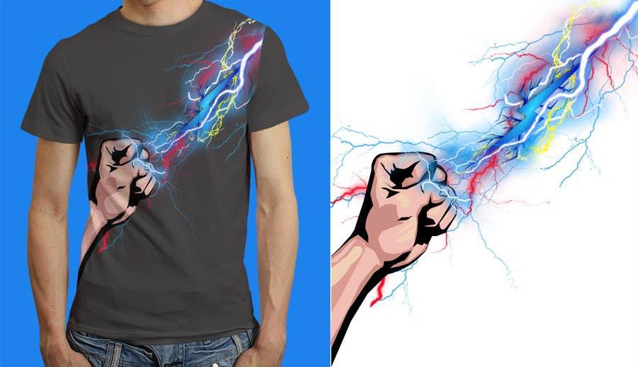 Kilpailutyö #                                        16                                      kilpailussa                                         Design a T-Shirt_command lightning