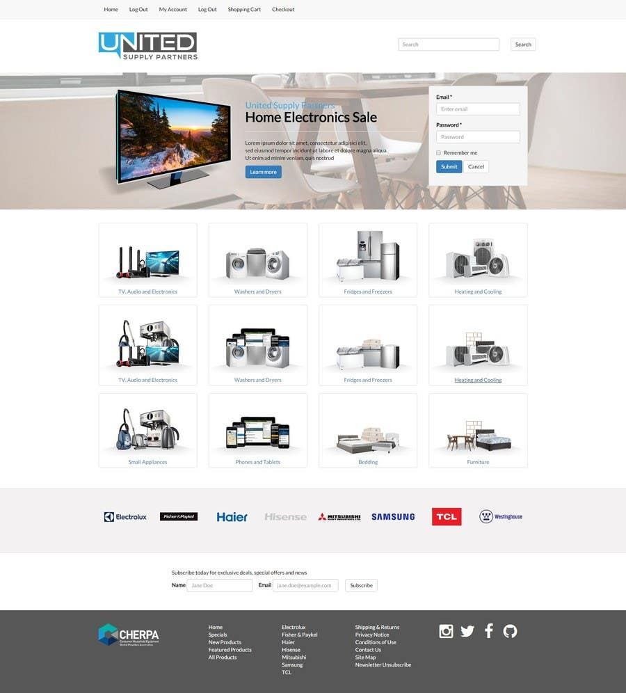 Proposition n°50 du concours Re-design teh layout to our website homepage