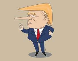 nº 13 pour Trump with long nose image par alekseychentsov