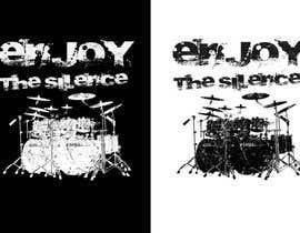 Nro 56 kilpailuun Design a Drummer T-shirt käyttäjältä zwook