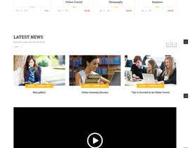 #2 for Front Page Designing of an Educational Portal by softflex16