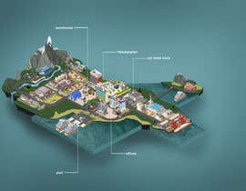 #7 for Design of Isometric map / Game map by gumenka