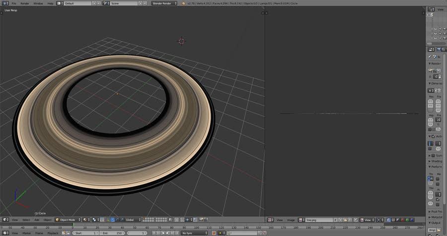Kilpailutyö #                                        5                                      kilpailussa                                         Create a Saturn's Rings Texture