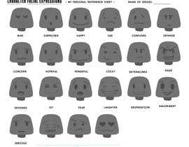 nº 13 pour Facial expressions for a character par GFXNinja