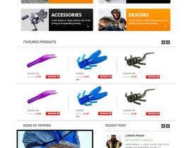 #31 untuk Design a Website Mockup for ecommerce fishing store oleh webmastersud