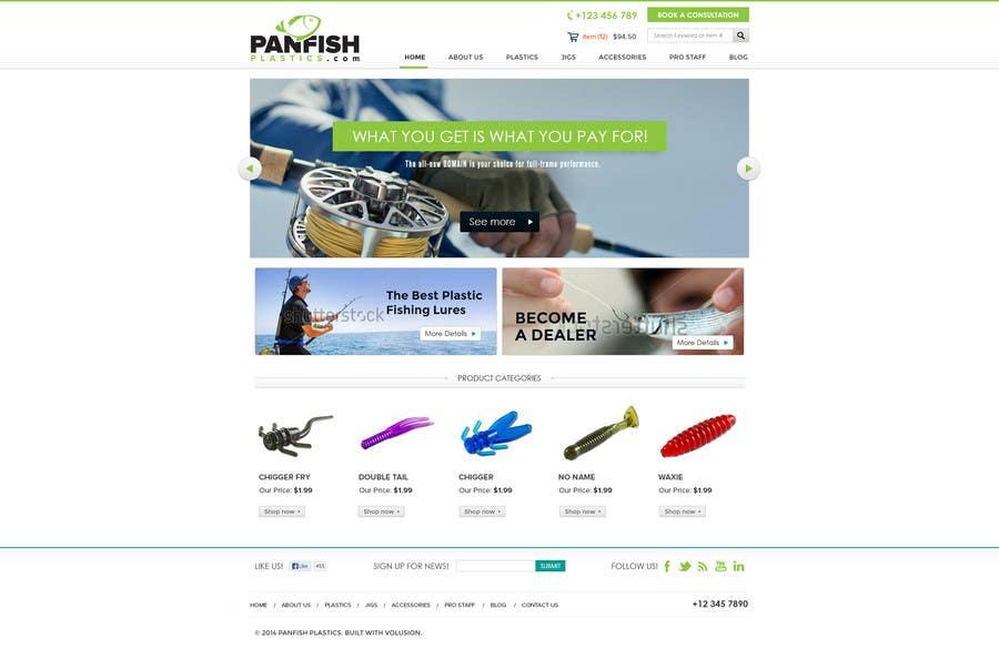 Penyertaan Peraduan #                                        10                                      untuk                                         Design a Website Mockup for ecommerce fishing store