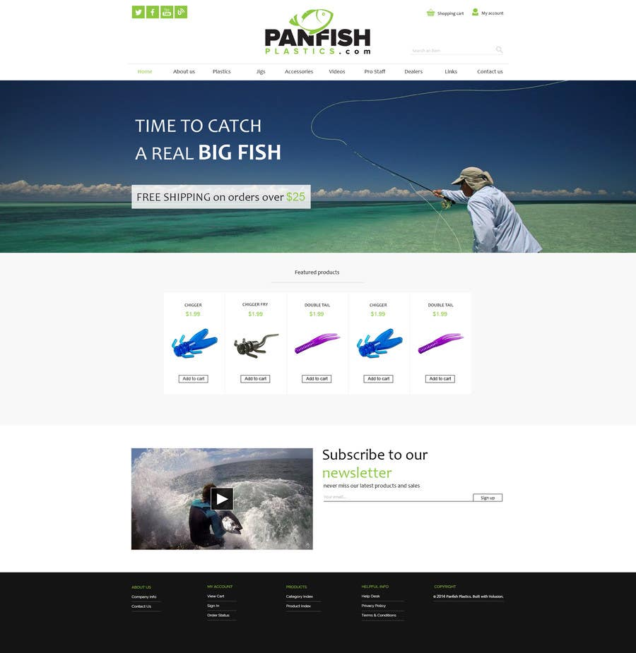 Penyertaan Peraduan #                                        14                                      untuk                                         Design a Website Mockup for ecommerce fishing store