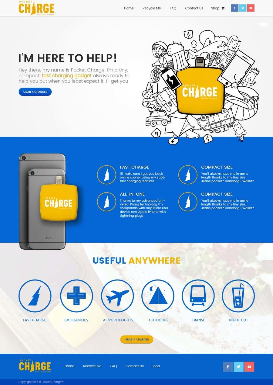 Proposition n°14 du concours Product landing page for website