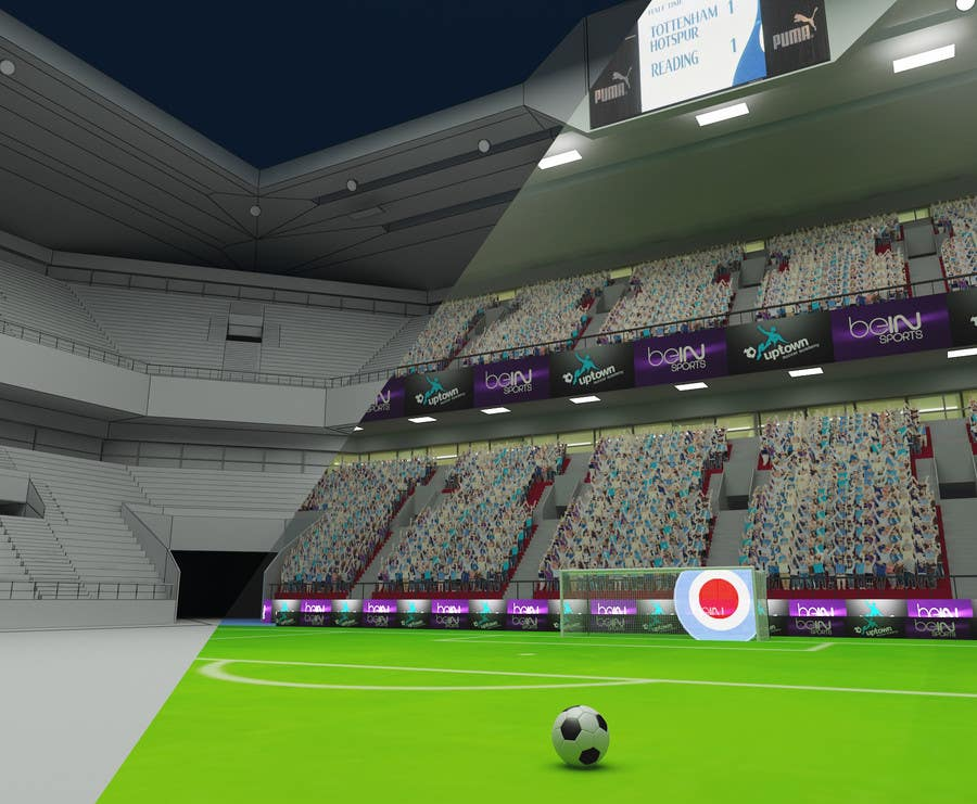 Proposition n°4 du concours Do some 3D Modelling - Create A 3d Half Football Stadium