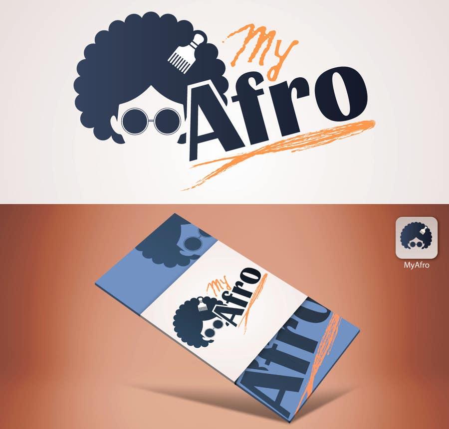 """Kilpailutyö #34 kilpailussa logo design for my """" MyAfro"""""""