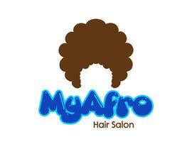 """Nro 6 kilpailuun logo design for my """" MyAfro"""" käyttäjältä engrmykel"""