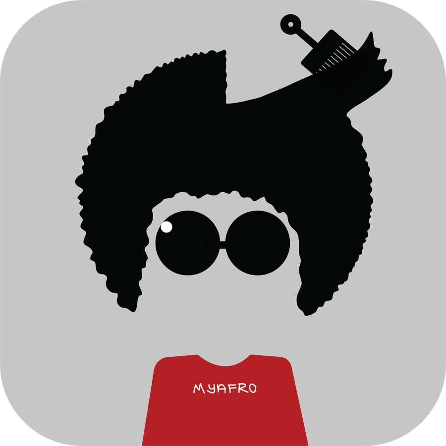"""Kilpailutyö #                                        21                                      kilpailussa                                         logo design for my """" MyAfro"""""""