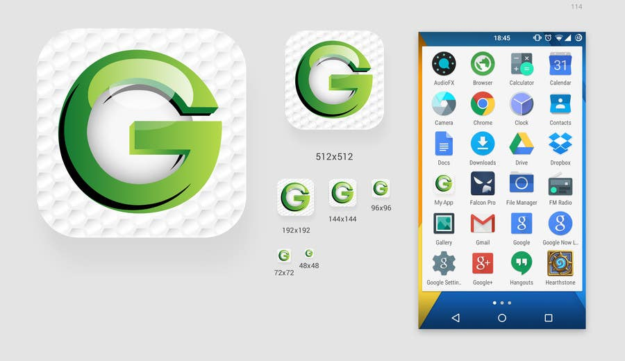 Proposition n°8 du concours Design an App Icon using existing logo