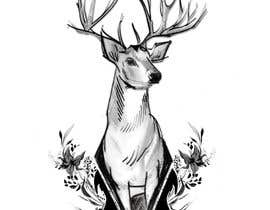 nº 17 pour Tattoo Design: Abstract Animal Theme (Preferably Blue Whale, Lion or Deer) par ArtistRitu