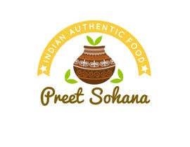 "nº 3 pour Logo for ""Indian Authentic Food By Preet Sohana"" par mteam2016"
