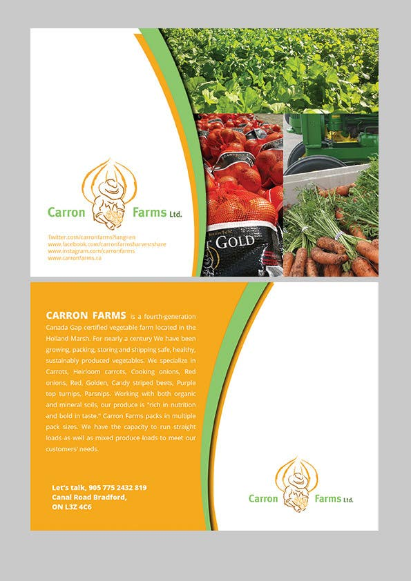Proposition n°9 du concours Create postcard mailer for farm