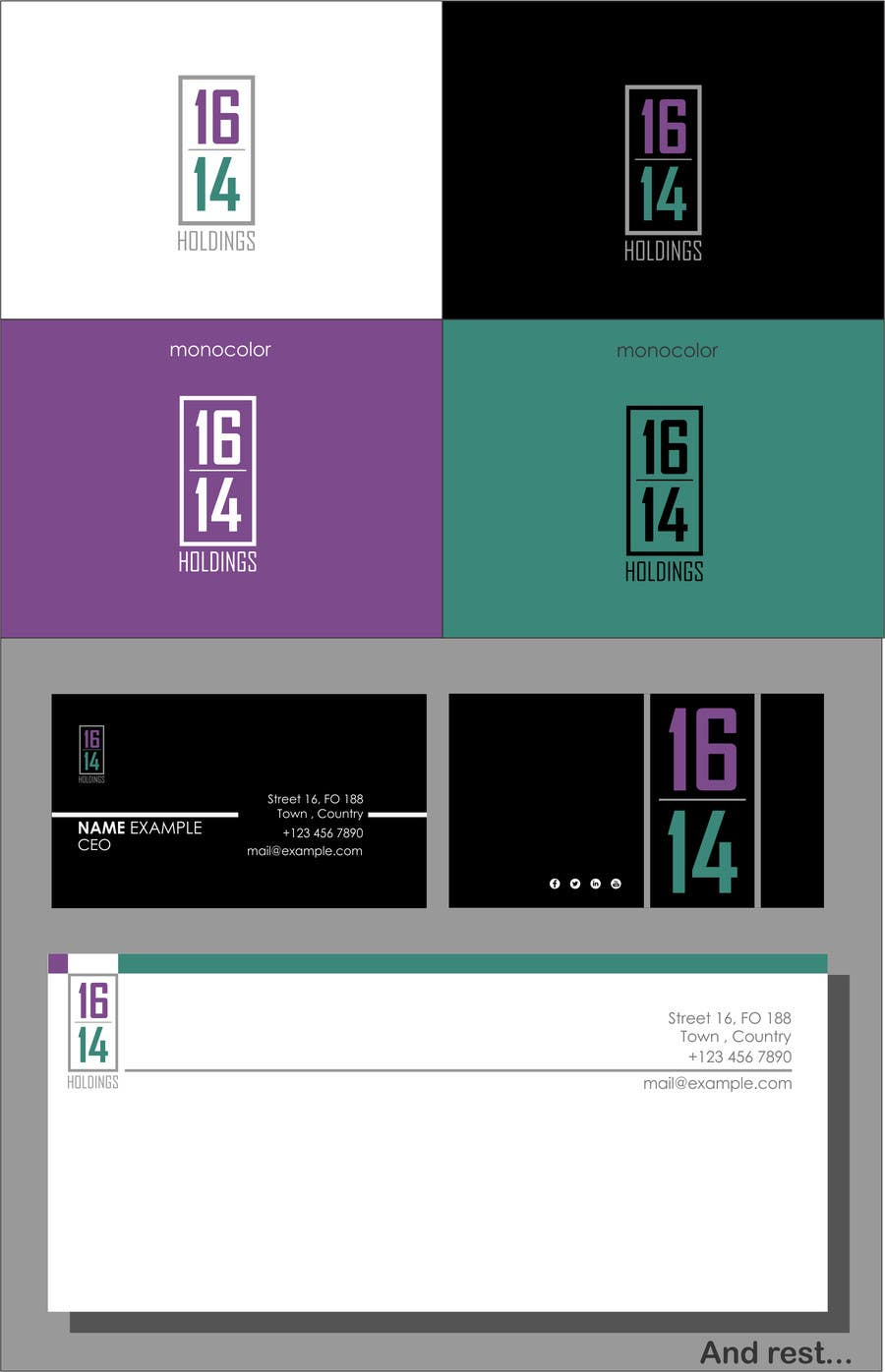 Proposition n°9 du concours logo & stationary