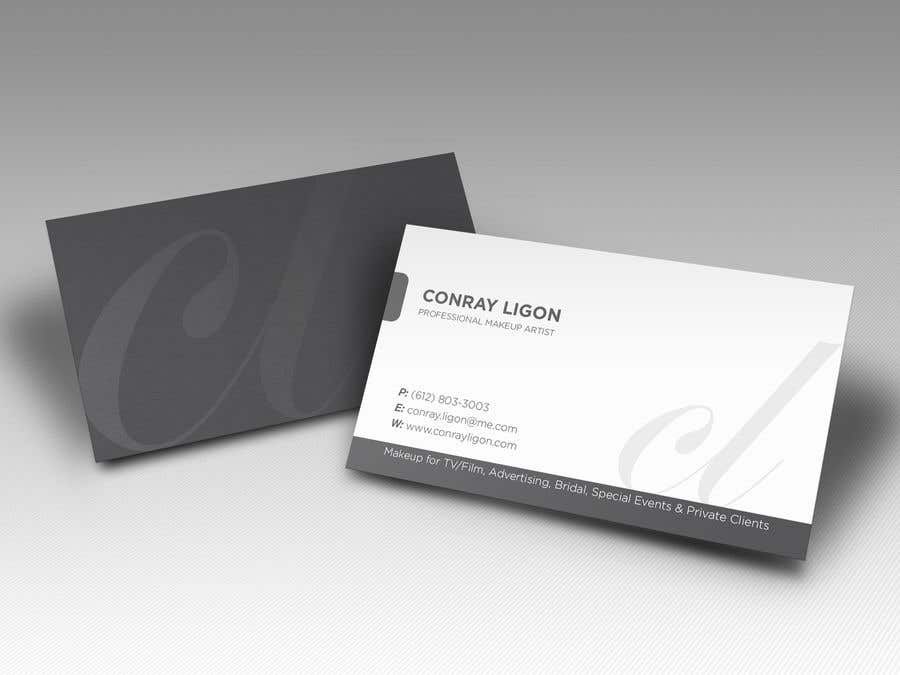 Proposition n°165 du concours Professional business card for male makeup artist.