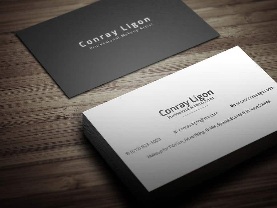 Contest Entry 100 For Professional Business Card Male Makeup Artist