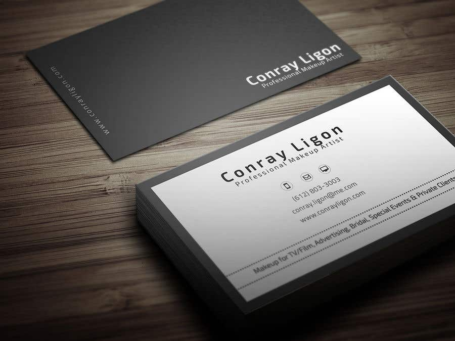 Proposition n°301 du concours Professional business card for male makeup artist.