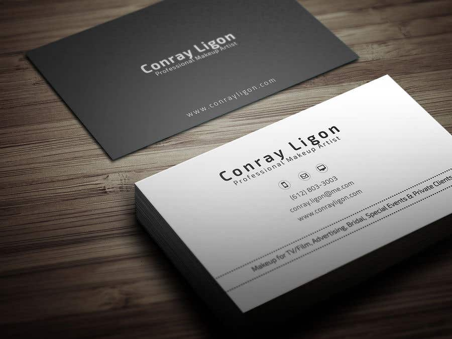Proposition n°302 du concours Professional business card for male makeup artist.