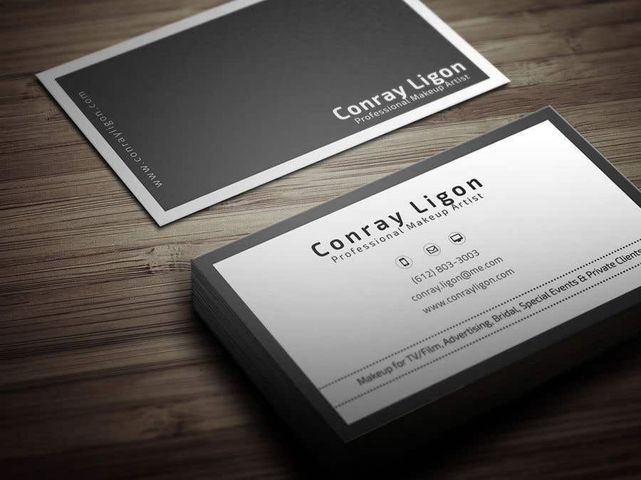 Proposition n°377 du concours Professional business card for male makeup artist.
