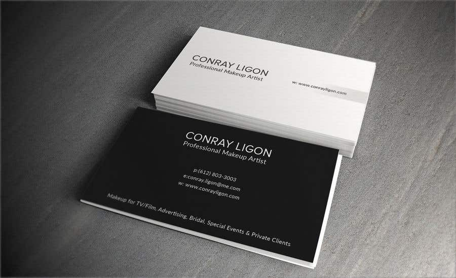 Proposition n°390 du concours Professional business card for male makeup artist.