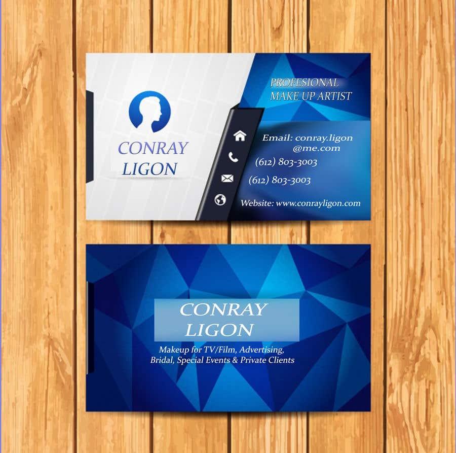 Proposition n°259 du concours Professional business card for male makeup artist.