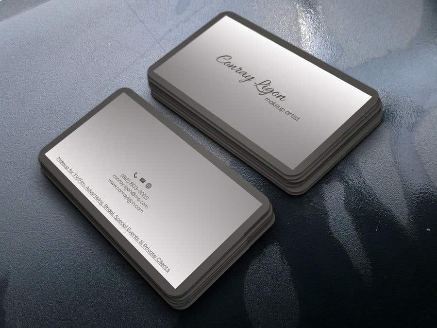 Proposition n°332 du concours Professional business card for male makeup artist.