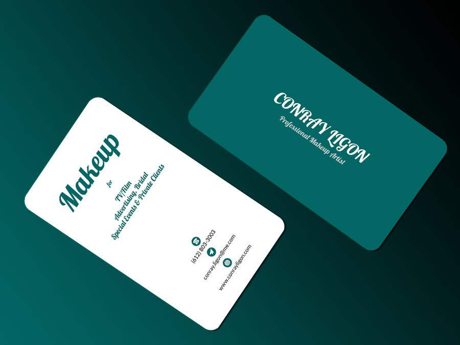 Proposition n°413 du concours Professional business card for male makeup artist.