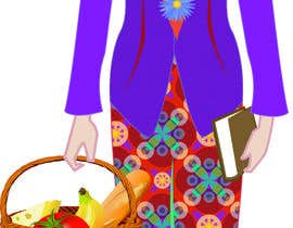 nº 5 pour Illustrate a lady in cartoon style par KehkashanAnsari