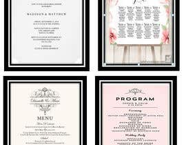 #10 for Floral themed wedding invitation set by idayuhussin42