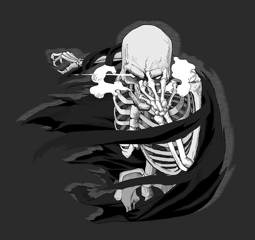 Kilpailutyö #                                        22                                      kilpailussa                                         Illustrate a Skull - Angry and Badass