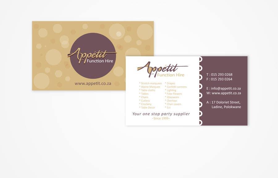 #11 for Business Card Design for Appétit Function Hire by designer12