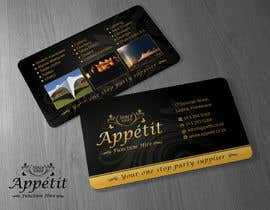 Brandwar tarafından Business Card Design for Appétit Function Hire için no 62