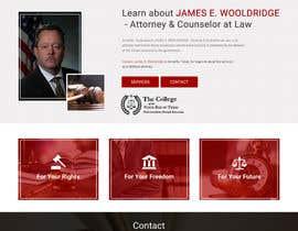 nº 29 pour Design a Website Mockup for Lawyer par webmastersud