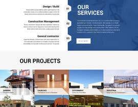 Nro 29 kilpailuun Design a Website Mockup for Commercial Builders käyttäjältä saidesigner87