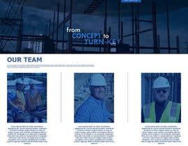 Nro 31 kilpailuun Design a Website Mockup for Commercial Builders käyttäjältä TheDzoni