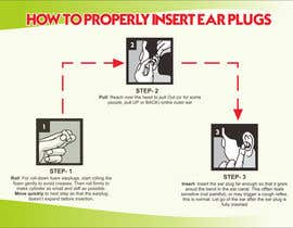 Nro 5 kilpailuun Earplug Instructions - Poster Design Comp käyttäjältä yunitasarike1