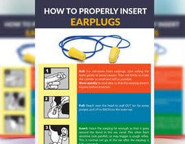 Nro 7 kilpailuun Earplug Instructions - Poster Design Comp käyttäjältä desidesignbd