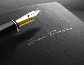 nº 61 pour Signature with custom cursive Letters par zubi5601