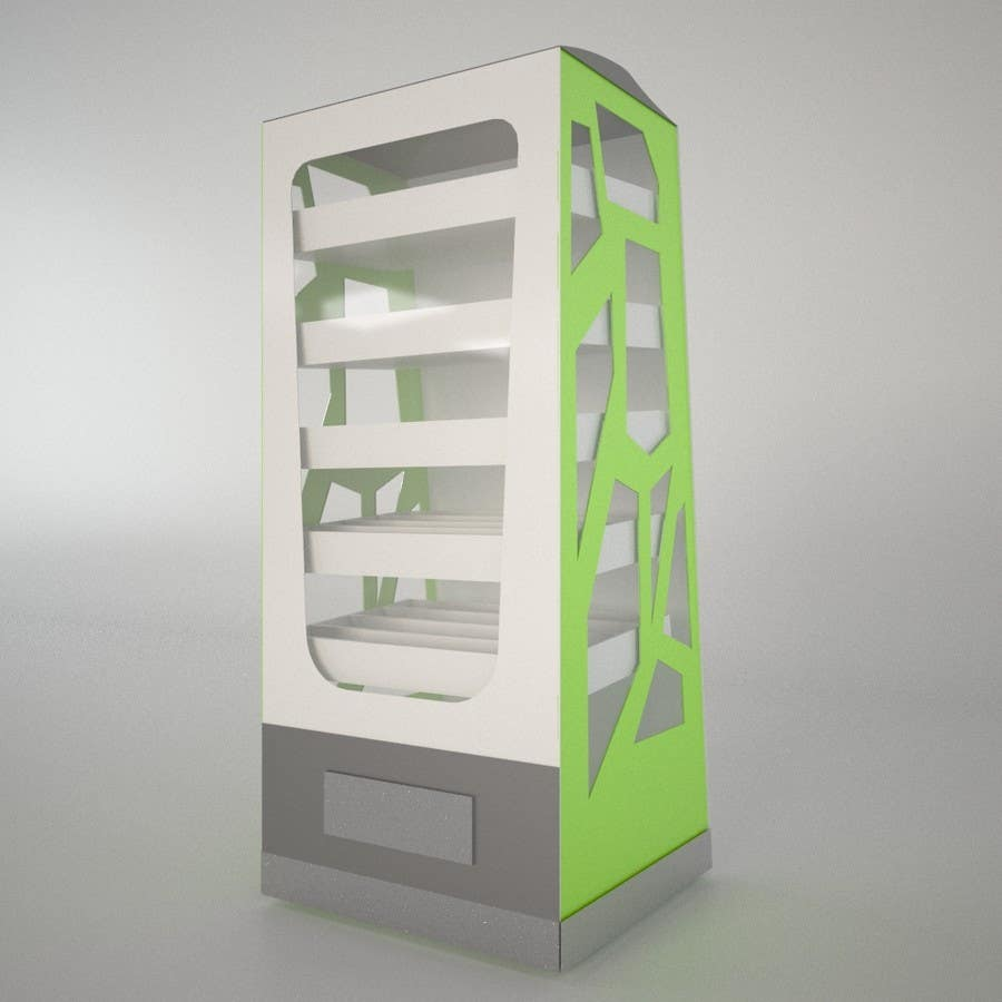Proposition n°3 du concours Exciting Project! Vending Machine and Food :) 3D Modelling and Product Design
