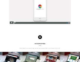 nº 9 pour 1 page - landing page in html / CSS for a mobile app w/ Instagram feed par ObidjonS