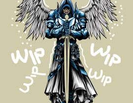 nº 21 pour Design an Angel Warrior T-Shirt par kaliuser54