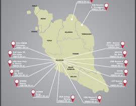 nº 29 pour Infographic Map par rahulsagardesign